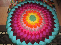 Deramores Rainbow Mandala Entrelac Blanket Knit-Along Kit in Deramores Yarn Review