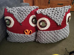 Deramores Owl Cushion Crochet Kit and Pattern in Deramores Yarn Review