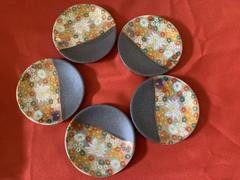 JAPAN KUTANI SHOP by Musubi Kiln Hanazume Kutani Ware Small Plate Set 5pcs Review