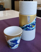 JAPAN KUTANI SHOP by Musubi Kiln Hokusai Wave Kutani Ware Sake Cylinder Review