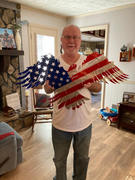 Frontline Metal Soaring Eagle American Flag Decor Review