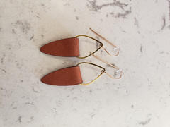 laurel denise Gold + Leather Earrings Review