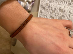 laurel denise Nobody Fights Alone - Leather Bracelet Review