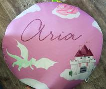 audrey-and-bear Castles and Dragons | Floor Pillow Review