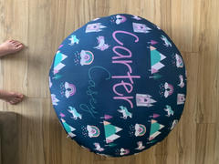 audrey-and-bear Customizable Oversized Floor Pillow | Sunshine Rainbows Review