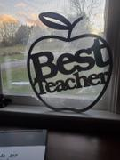 Metal Unlimited Best Teacher Apple SIgn Review
