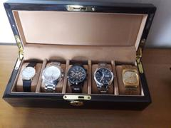 Aevitas Luxury Macassar Veneer Watch Box Gold Chrome fittings for 5 watches by Aevitas Review