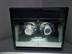 Aevitas Luxury 2 Watch Winder Carbon Fibre with Extra Storage Area - Crystal Collection Review