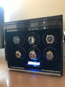 Aevitas Luxury 6 Watch Winder in Carbon Fibre with Extra Storage Area - Crystal Collection by Aevitas Review