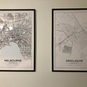Print and Proper City Maps / MELBOURNE - Art Print Review