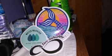 Live Infinitely  Water Warrior Drink Like a Mermaid Sticker Pack Review