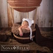 Newborn Studio Props Hot Air Balloon Basket AND 6 Balloons Review