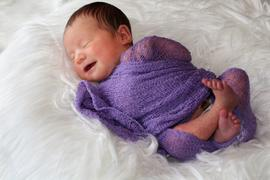 Newborn Studio Props Stretch Knit Baby Wrap - Lilac Review