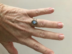 Discovered Bohemian Gypsy Rainbow Moonstone Ring, Silver Ring, Handmade Jewelry, Gift Review
