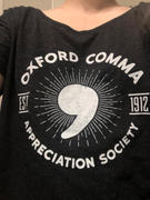 Boredwalk Women's Oxford Comma Appreciation Society Scoop Neck T-Shirt Review