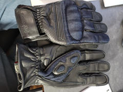 Indie Ridge Denim & Leather Motorcycle Gloves • Black Review