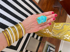 Christina Greene LLC Shield Ring - Turquoise Review