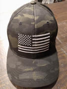 Eagle Six Gear American Flag Blackout Flexfit Black Multicam Hat Review