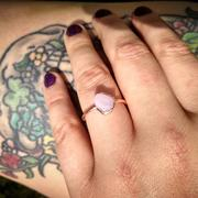 RAW by Olivia Mar Pink Peruvian Opal Ring Review