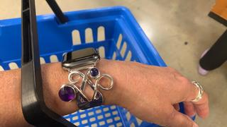 Lost & Forged Silver Fork Apple Watch Band with Amethyst & Sapphire Gemstones Review