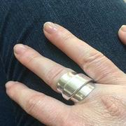 Lost & Forged Sleek Elegance Silver Whole Spoon Ring Review
