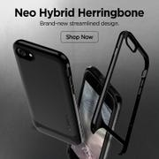 allmytech.pk Apple iPhone 8 Plus / 7 Plus Original Spigen Case Neo Hybrid Herringbone - Shiny Black Review