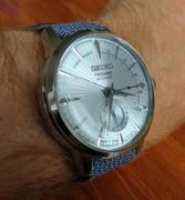 WatchObsession MELANGE PERLON Braided Watch Strap & Buckle in MOONLIGHT GREY Review