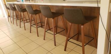 Just Bar Stools Laurent Bar Stool (Set of 2) Vintage Walnut Review
