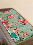 Posh Peanut Aqua Floral Changing Pad Cover Review