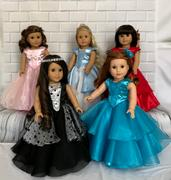 Pixie Faire Bella Rose Ball Gown & Party Dress 18 Doll Clothes Pattern Review