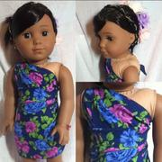 Pixie Faire Tropical Wrap and Tie Sarong Dress 18 Doll Clothes Pattern Review