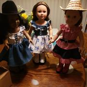 Pixie Faire A Lil' Bit Country: Dress, Top, Skirt and Belt Set 18 Doll Clothes Review