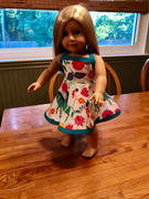 Pixie Faire Sweet All Around Sundress 18 Doll Clothes Pattern Review