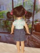 Pixie Faire Colvin Jeans Skirt 13-14.5 Doll Clothes Pattern Review