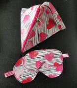 Pretty in Pink Supply Hot Pink and White Stripe Gold Metallic Heart Print Review