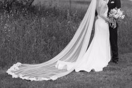 ieie Bridal Cathedral Length Soft Tulle Wedding Veil with Laces at the End VG1046 Review