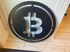 Maker Table Now Accepting Bitcoin - Crypto Currency BTC Merchant Sign - Metal Business Sign Review
