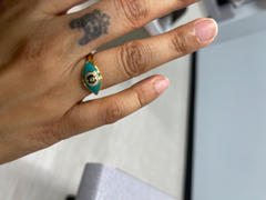 Karma and Luck Improved Shielding - Evil Eye Turquoise Enamel Gold Ring Review