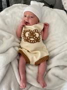 Estella Organic Baby Romper, Sleeveless Knit - Pretzel Review