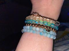 NOGU.ca Aigue-marine   Argent   Examen du bracelet en perles de verre sirène