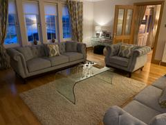 LoungeLiving.co.uk Mark Harris Highgrove Grey Plush Fabric 3 Seater Sofa Review