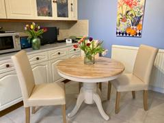 LoungeLiving.co.uk Mark Harris Elstree Solid Hardwood & Painted 100cm Extending Dining Table (Oak & Cream) Review