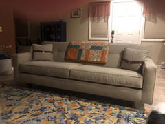 Club Furniture Margo II 88 Inch Mid Century Modern Button Back Track Arm Sofa Review