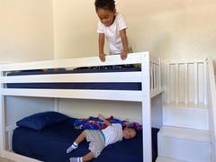 Max & Lily Kid's Twin Over Twin Size Low Bunk Bed with Staircase Review