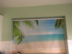 Art Fever Tropical palm Beach Printed Picture Photo Roller Blind - RB281 Review