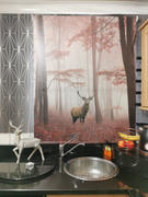 Art Fever Printed Picture Photo Roller Blind Red Deer Stag in Foggy Autumn Woods - RB990 Review