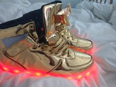 Flash Wear Flashez - Gold High Top LED Trainers Review