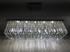 7PM Home Modern Raindrop Rectangular Crystal Chandelier for Dining Room Review