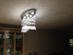 7PM Home Modern Oval Flush Mount Raindrop Crystal Ceiling Lights Review