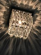 7PM Home Mini Square Crystal Chandelier Flush Mount Ceiling Light Review